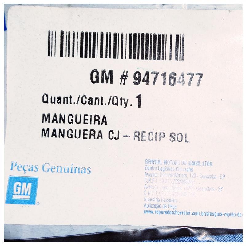 Mangueira Reservatório Lavador Parabrisa - Vectra 2006 á 2011 94716477
