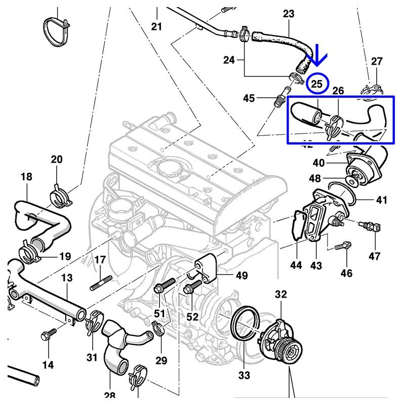 Mangueira Superior Radiador - Astra/Zafira 2.0 16V 1999/2009 - Vectra 2.4 16V 2006/2011 94738543