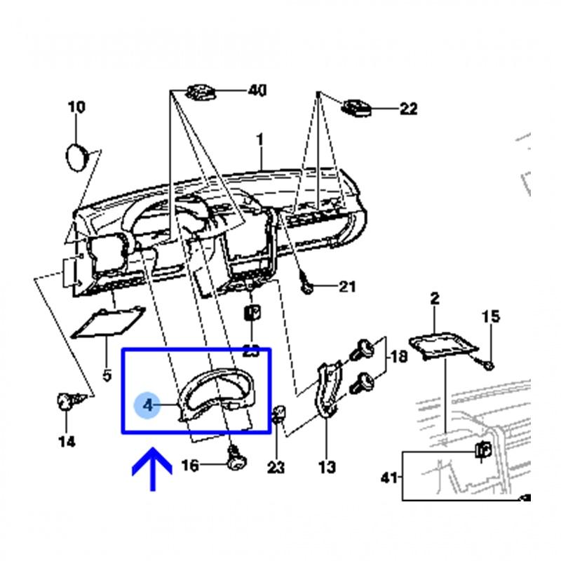 Moldura do Painel de Instrumentos - Corsa 1994 á 1998 90434480