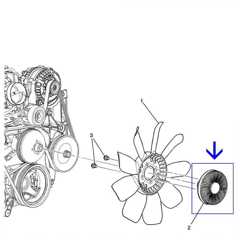 Polia Embreagem Viscosa da Ventoinha - S10 2.8L Turbo Diesel 2012 á 2016 94706510