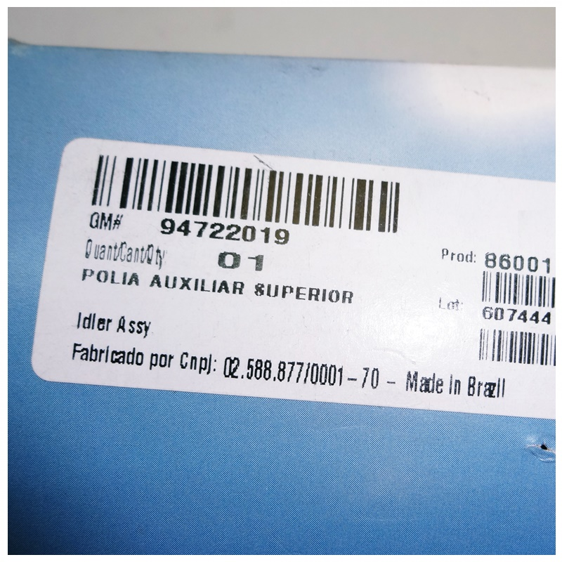 Polia Intermediaria 76mm Correia Alternador - S10 2.8 Turbo Diesel 2012 á 2021 94722019