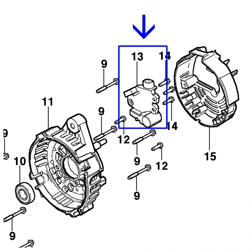 Regulador Voltagem - Agile 1.4 2010 á 2014 - Montana 1.4 2011 á 2021 - Captiva 2.4/3.0 94737648