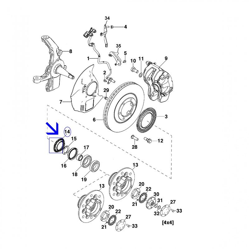 Retentor Roda Dianteira - Nova S10 / Trailblazer 2012 á 2016 98036595