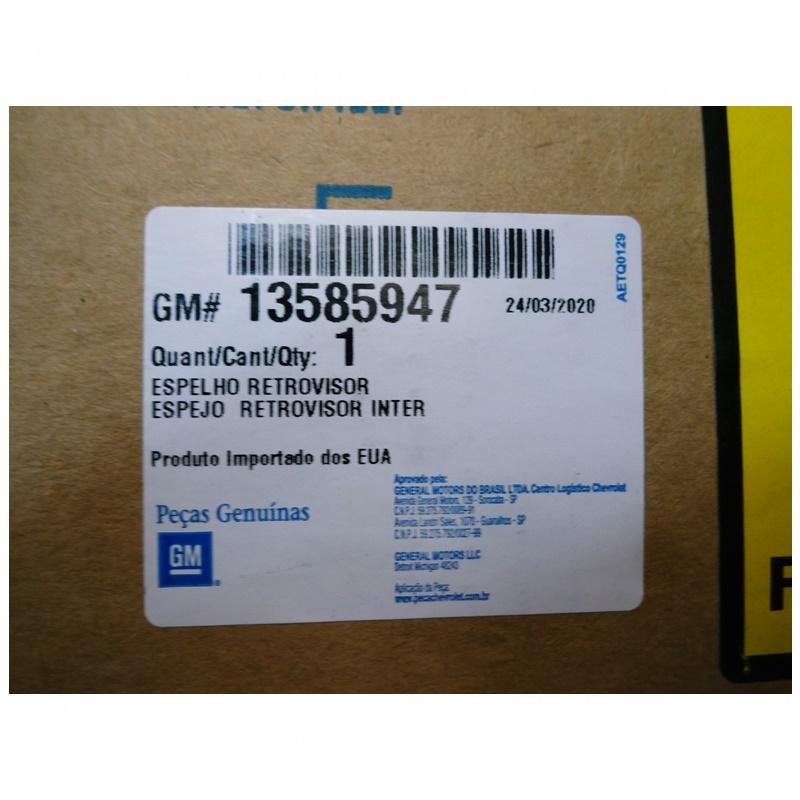 Retrovisor Interno - Onix / Cobalt / Spin / Montana / Agile / Classic / Celta GM 13585947