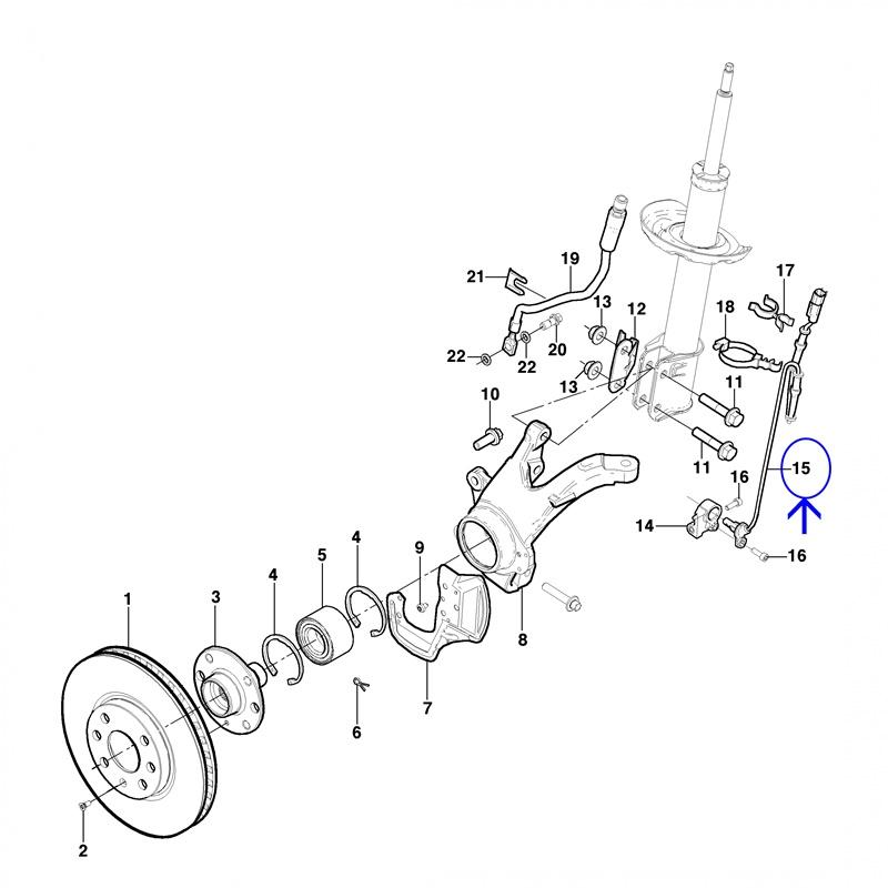 Sensor ABS Roda Dianteira - Agile 1.4 2009 á 2014 - Montana 1.4 2011 á 2017 94709058