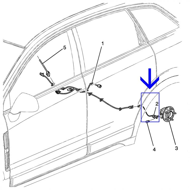 Sensor ABS Roda Traseira - Captiva 2.4/3.0/3.6 2008 á 2017 96626080