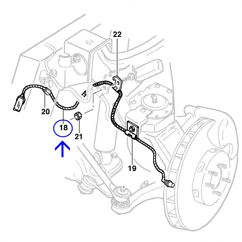 Sensor Velocidade do ABS - S10 2.4L Flexpower 4x2 2011 á 2011 94749256