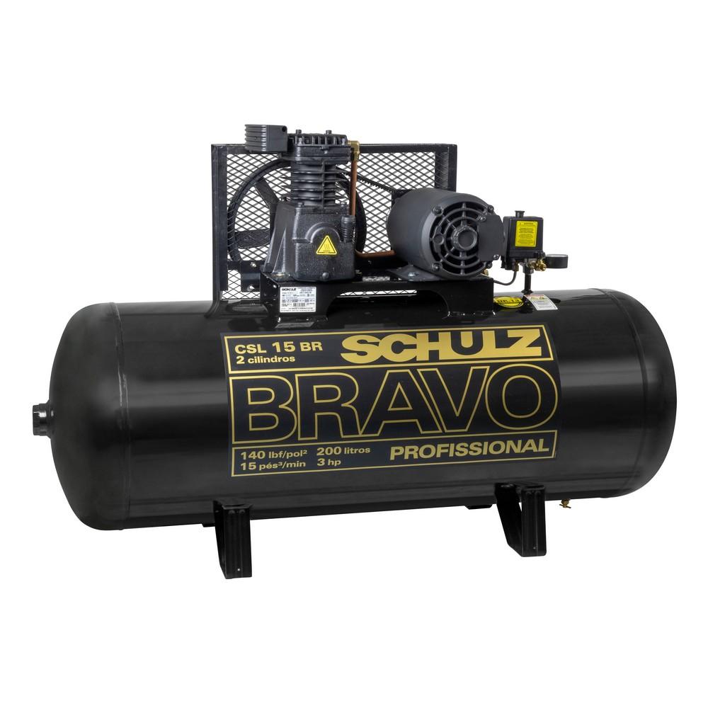 COMPRESSOR DE AR BRAVO CSL 15/200 LT 220/380V SCHULZ