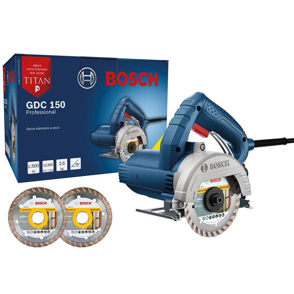 SERRA MARMORE TITAN GDC 150 + 2 DISCOS 220V