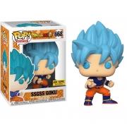 Boneco Funko Pop Anime Dragon Ball Super Ssgss Goku Blue 668