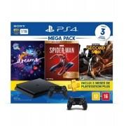 Bundle Console PS4 com 2 CONTROLES + 3 Hits: Dreams + Marvel's Spider-Man + Infamous Second Son