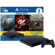 Console PS4 1TB - Hits Good of War + Grand Turismo + Days Gone