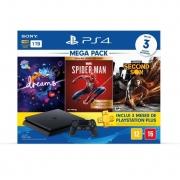 Console PS4 Slim 1TB + Mega Pack 15 - Spider-Man: Goty + Horizon Zero Dawn: Complete Edition + Ratchet&Clank
