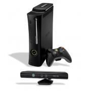 Console Xbox 360 Slim Usado 4GB com 1 Controle + Kinect