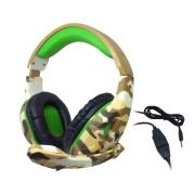 Headset Gamer TecDrive PX1 Recruta Verde Camuflado