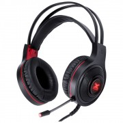Headset Vinik PC VX Gaming Lugh Led Vermelho - USB - GH300