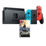 Kit: Console Nintendo Switch com Jogo The Legend Of Zelda: Breath of the Wild