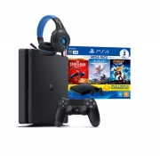 Kit Quarentena: Console PS4 com Headset Gamer TecDrive (Conforme Disponibilidade)