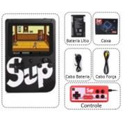 Sup - Mini Game Retro Preto com 400 Jogos e Controle