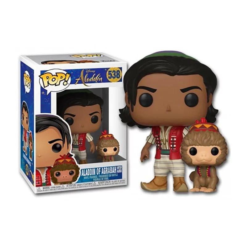 Boneco Funko Pop Disney Live Aladdin De Agrabah With Apu 538