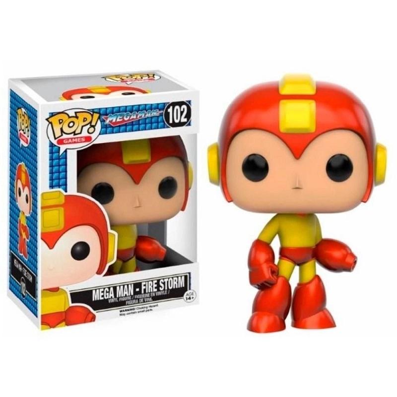 Boneco Funko Pop Games Mega Man Rocket Man Fire Storm 102