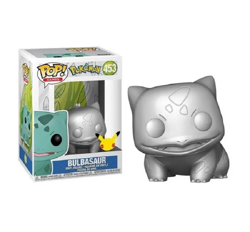 Boneco Funko Pop Games Pokémon Bulbasaur Silver 453