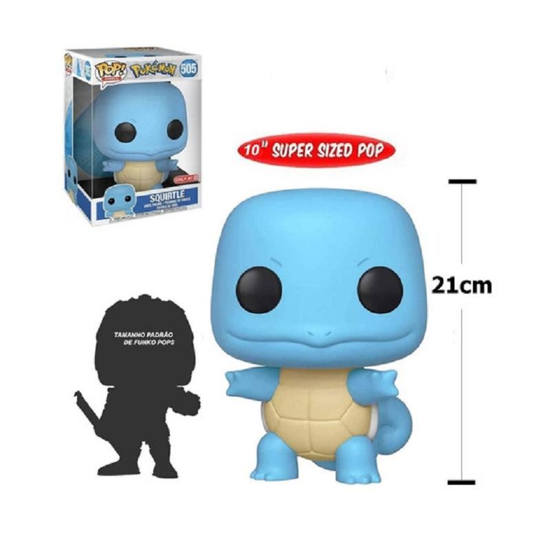 Boneco Funko Pop Games Pokémon Squirtle 10 Polegadas 505