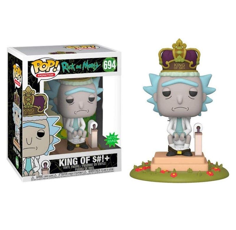 Boneco Funko Pop Rick Morty Deluxe Rick King 694