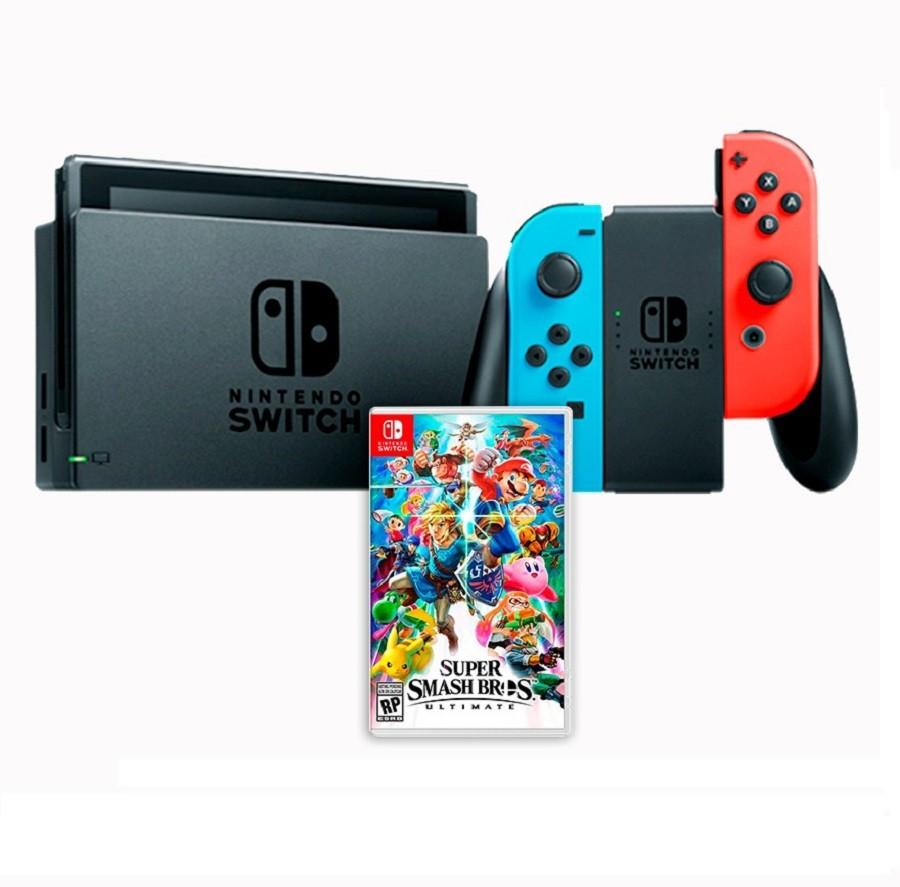 Console Nintendo Switch com Jogo Super Smash Bros Ultimate