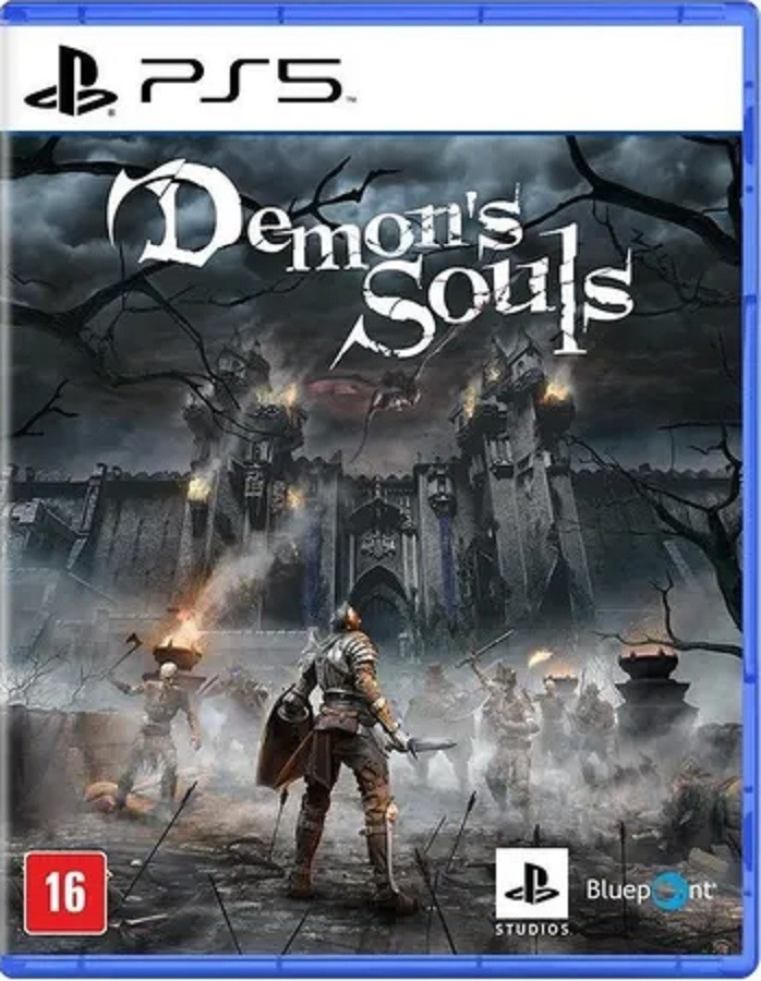 Console PS5 com 1 CONTROLE + 3 Jogos: Sackboys + Demon´s Souls + Spider-Man Miles Morales