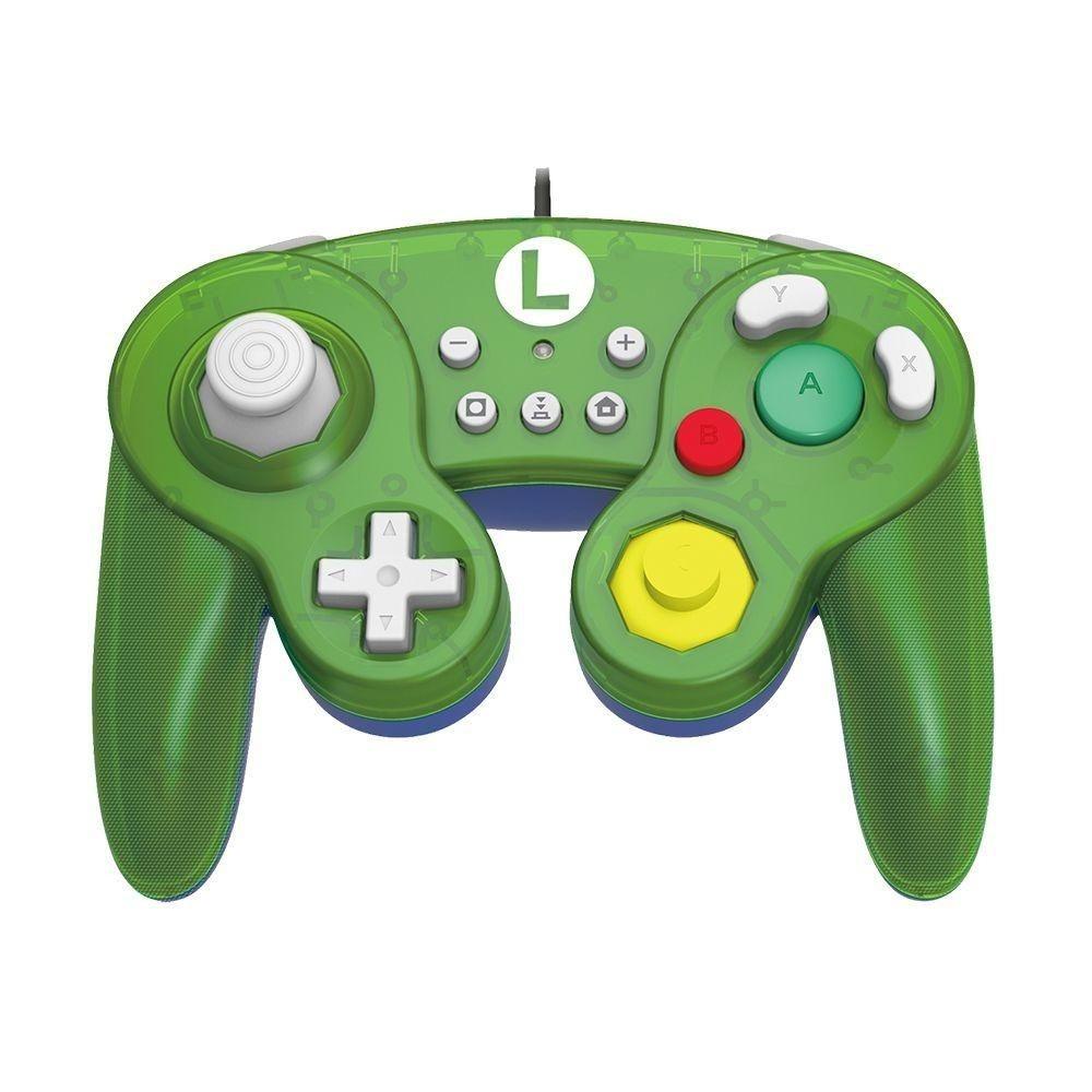 Controle Nintendo Switch com fio Hori Super Smash Bros Luigi