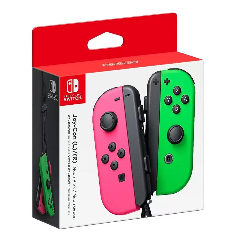 Controle Nintendo Switch Joy-Con (Joystick) Sem Fio Rosa e Verde