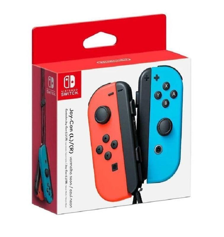 Controle Nintendo Switch Joy-Con (Joystick) Sem Fio Vermelho e Azul