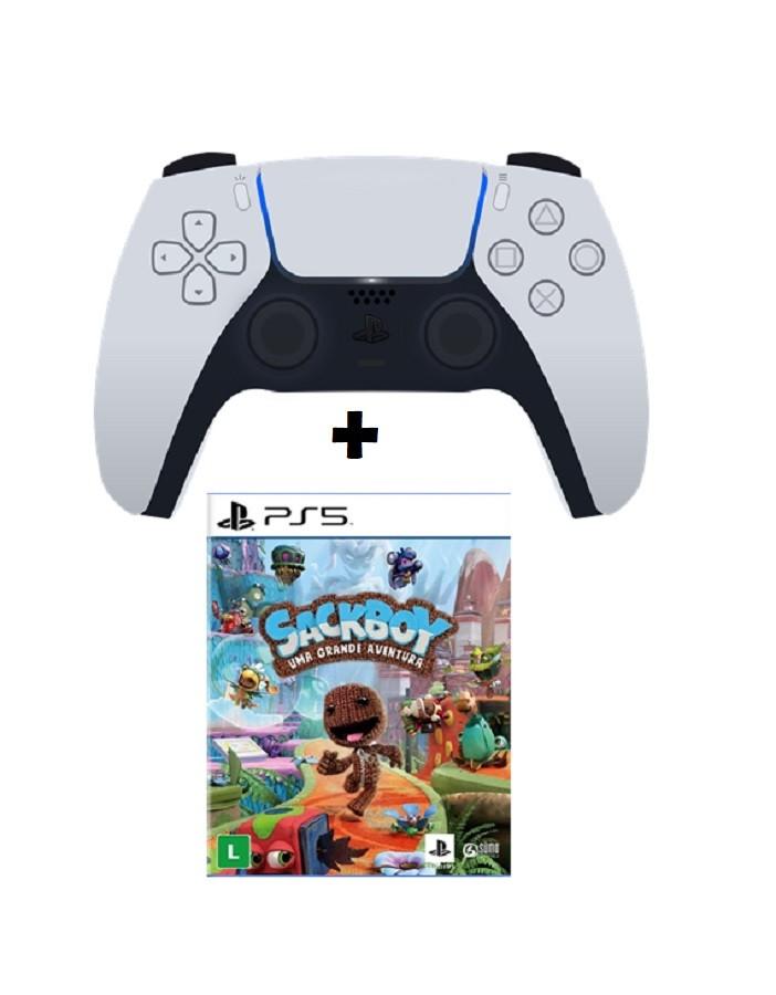 Controle Sem Fio PS5 + Jogo Sackboy
