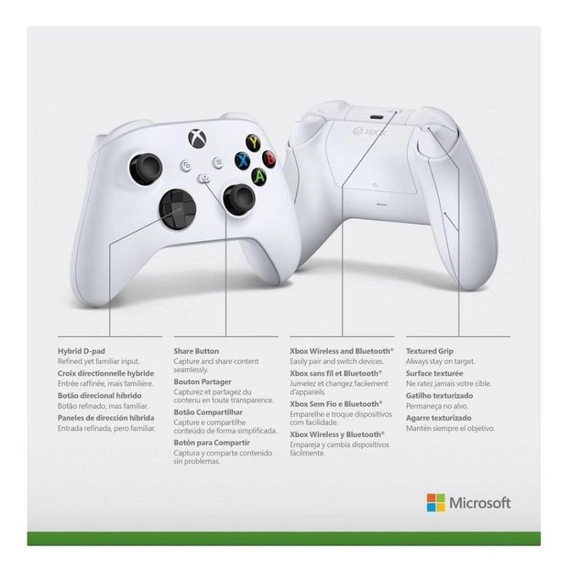 Controle Xbox Series X/S Branco Sem Fio