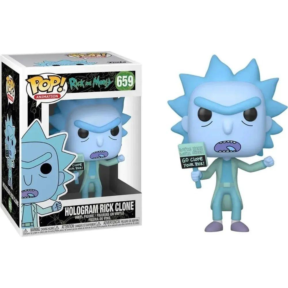 Funko Pop 659 Hologram Rick Clone Rick and Morty