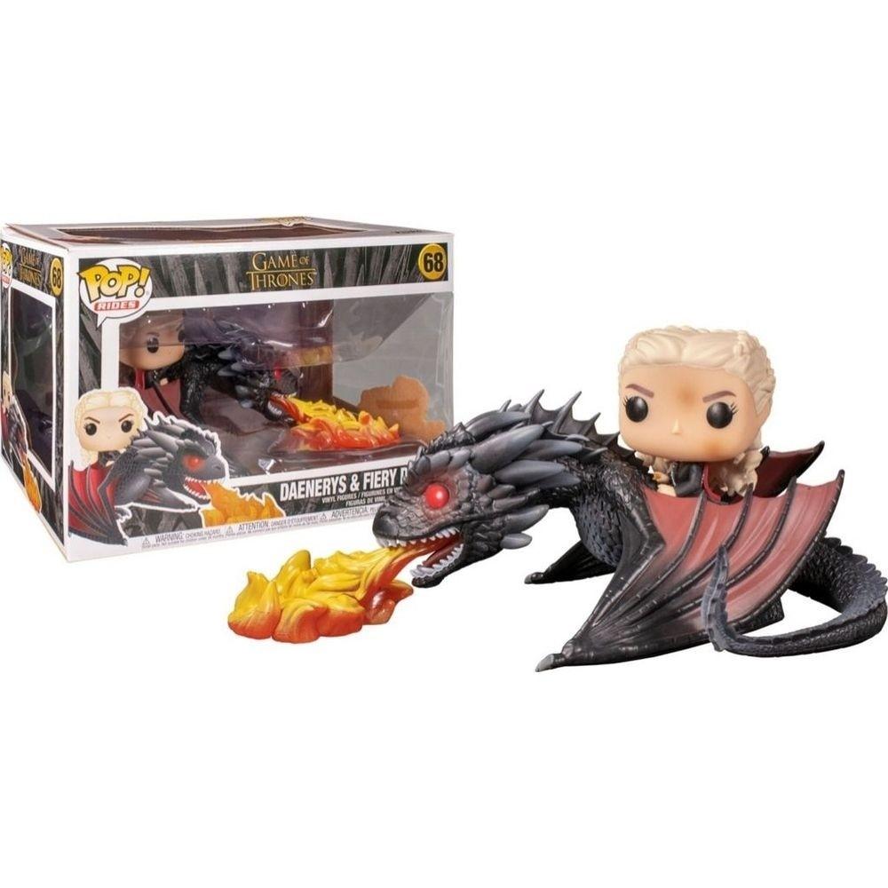 Funko Pop 68 Daenerys e Fiery Dragon Game of Thrones