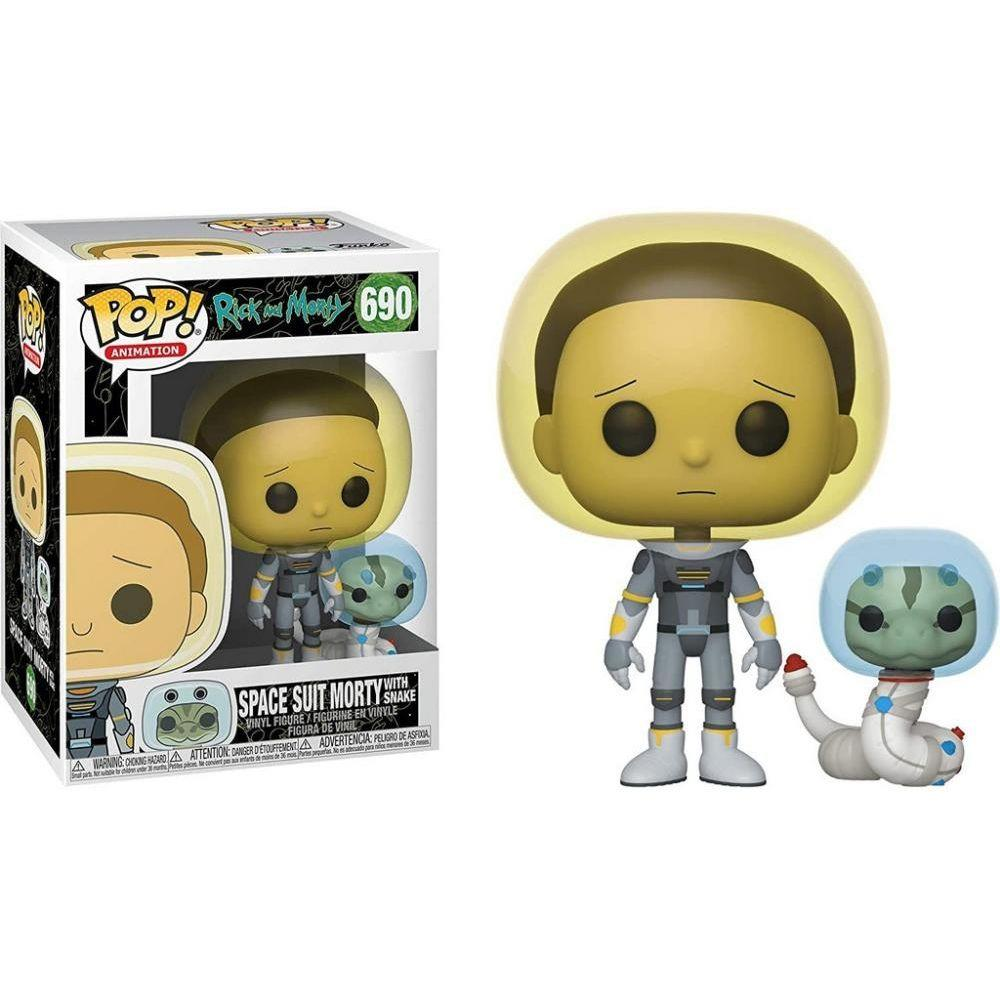 Funko Pop 690 Morty Space W Snake Rick and Morty