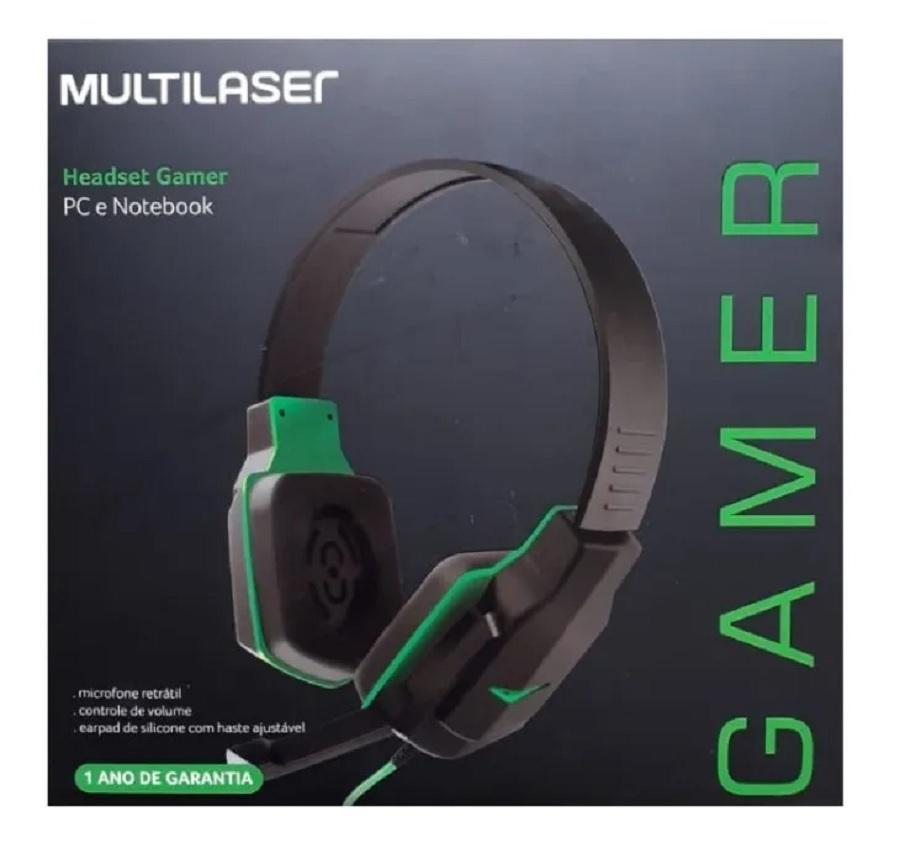 Headset Gamer MULTILASER PC e Notebook