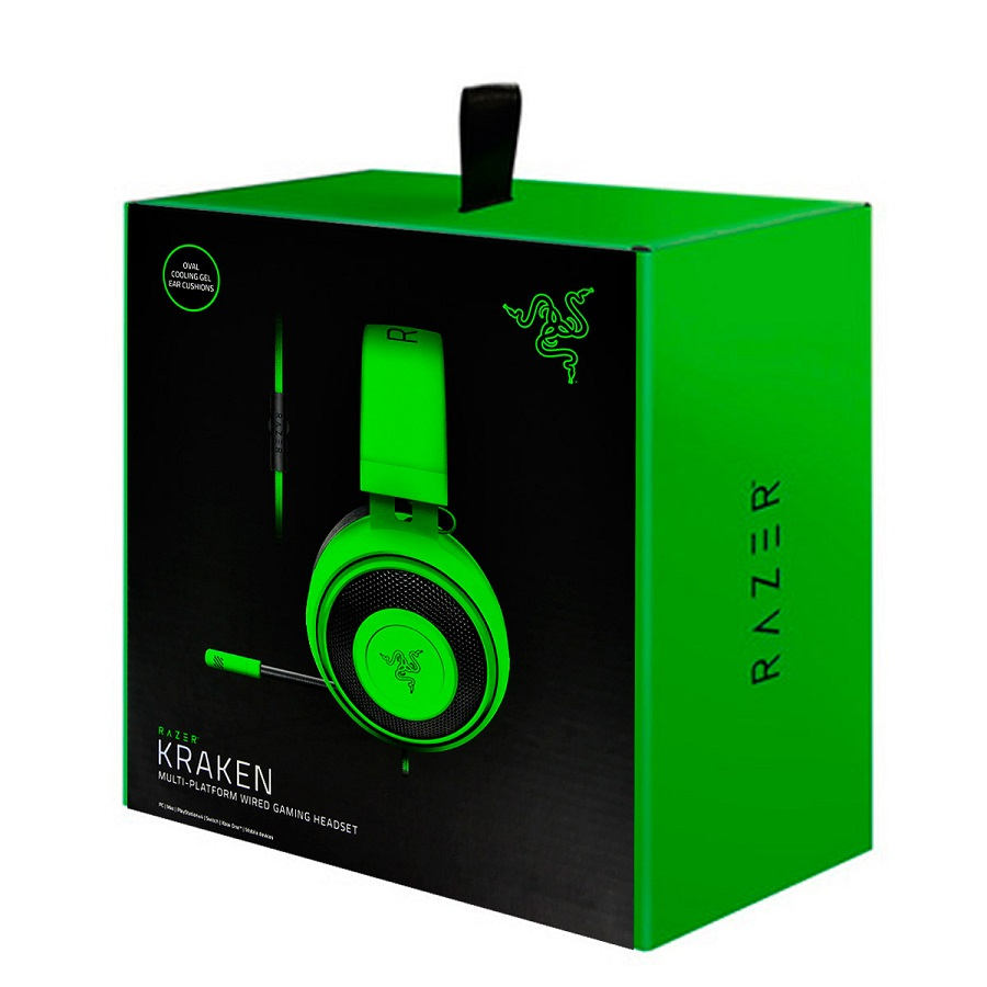 Headset Gamer Razer Kraken Green Multiplataforma