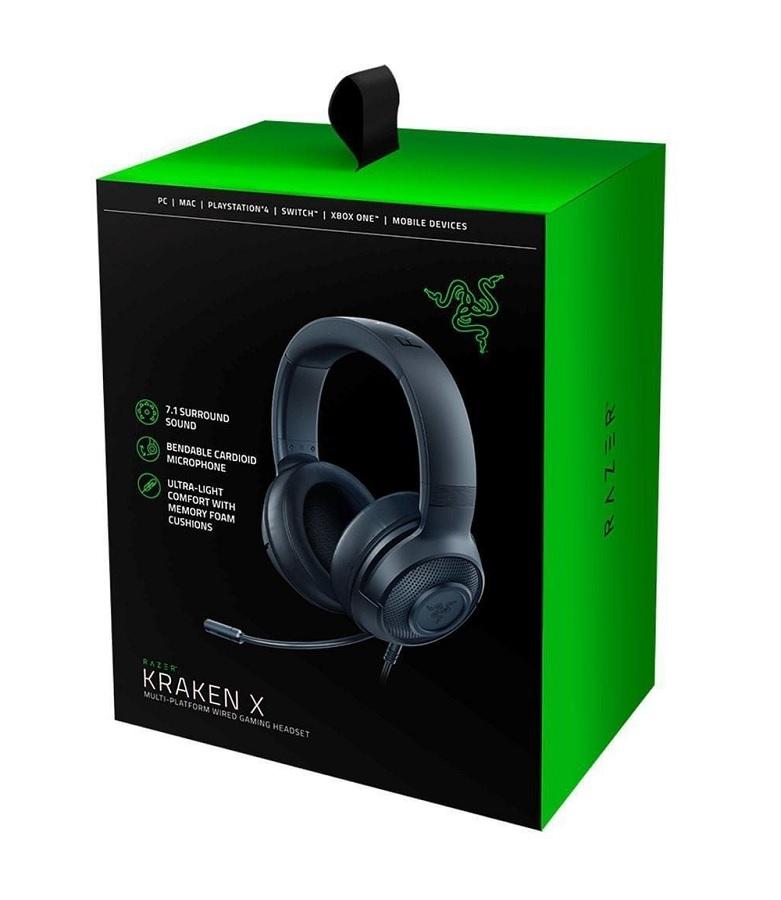 Headset Gamer Razer Kraken X Lite Multiplataforma