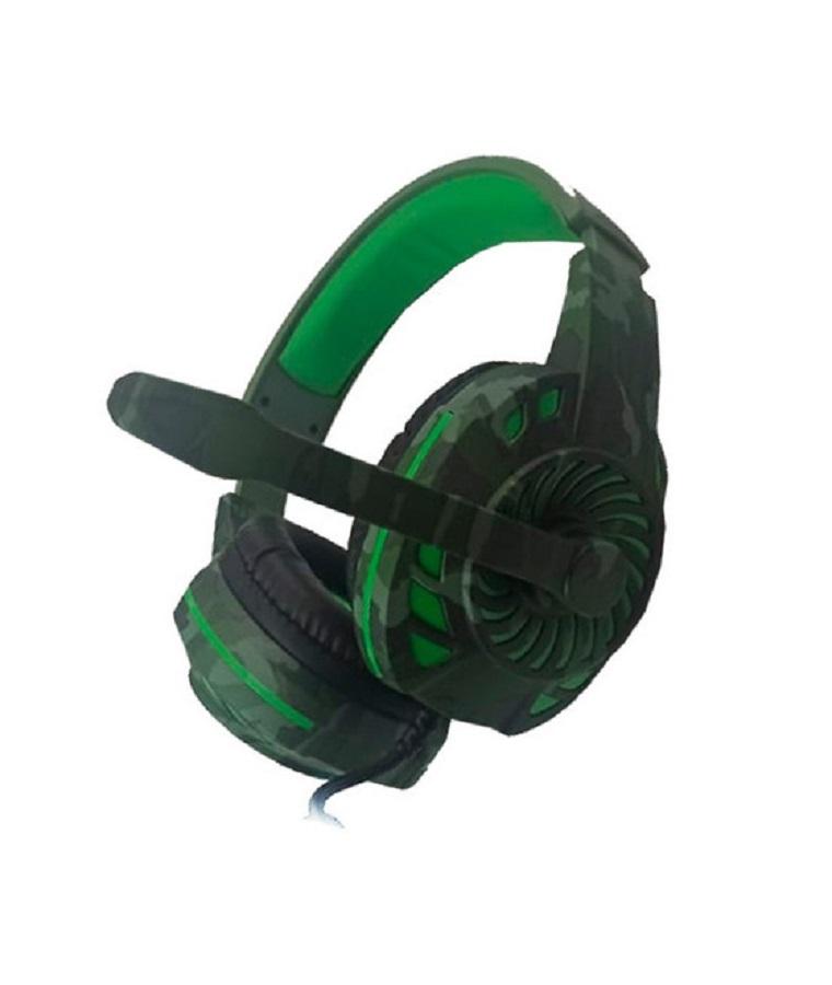Headset Gamer TecDrive PX2 Verde Camuflado
