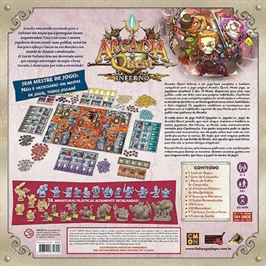 Jogo de Tabuleiro Arcadia Quest Inferno - Galapagos