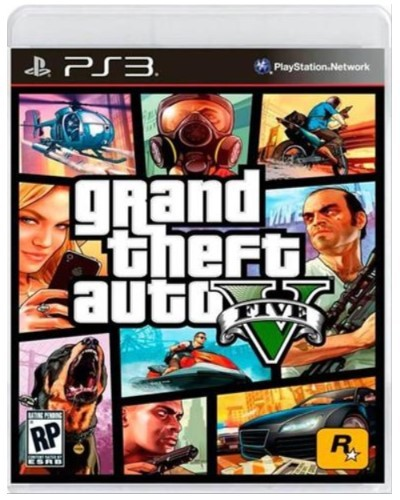 Jogo PS3 Novo Grand Theft Auto V