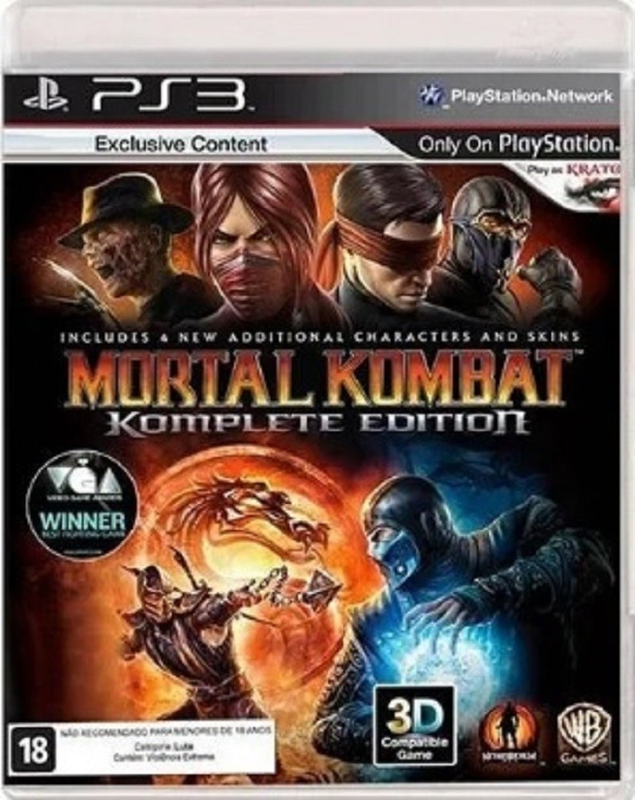 Jogo PS3 NOVO Mortal Kombat: Komplete Edition