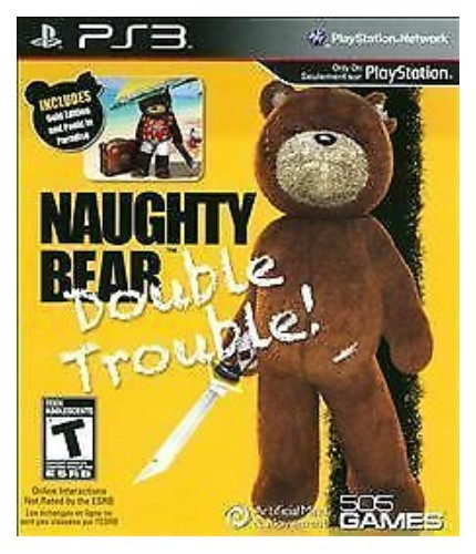 Jogo PS3 Novo Naughty Bear - Double Trouble