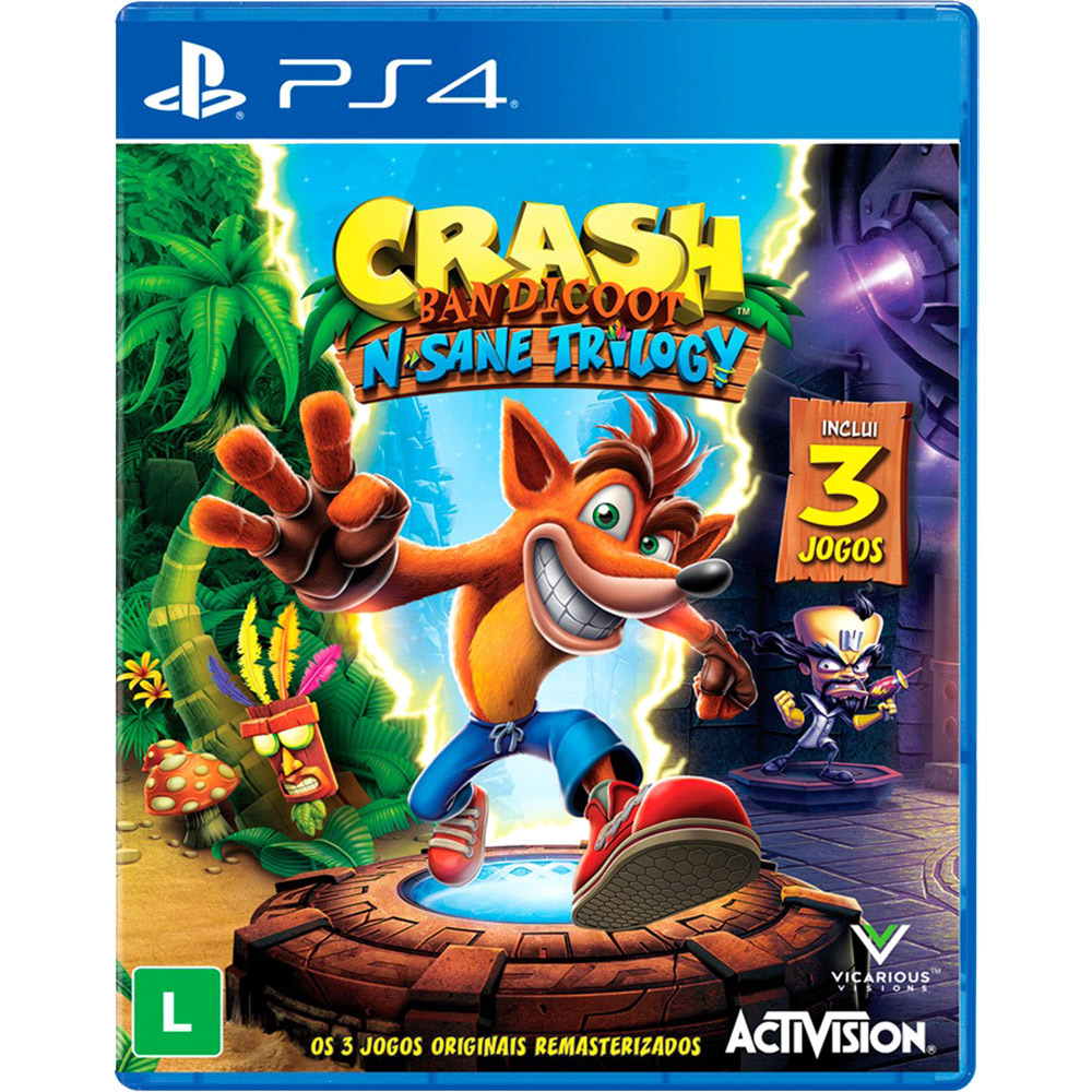 Jogo PS4 Crash Bandicoot N. Sane Trilogy