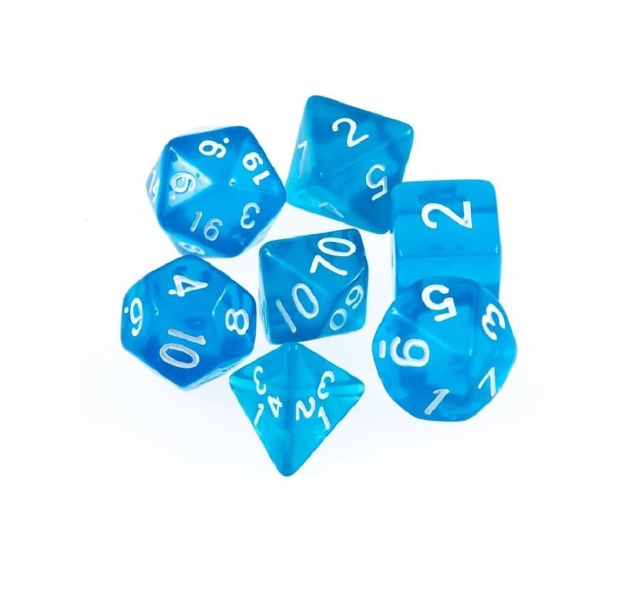 Kit com 7 Dados RPG - D4, D6, D8, D10x2, D12 e D20