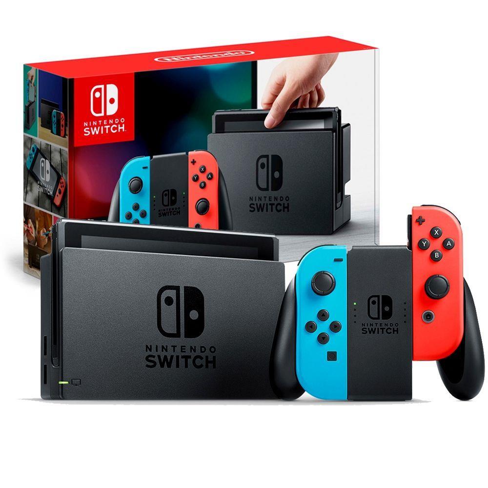 Kit: Console Nintendo Switch com Jogo Super Mario Odyssey