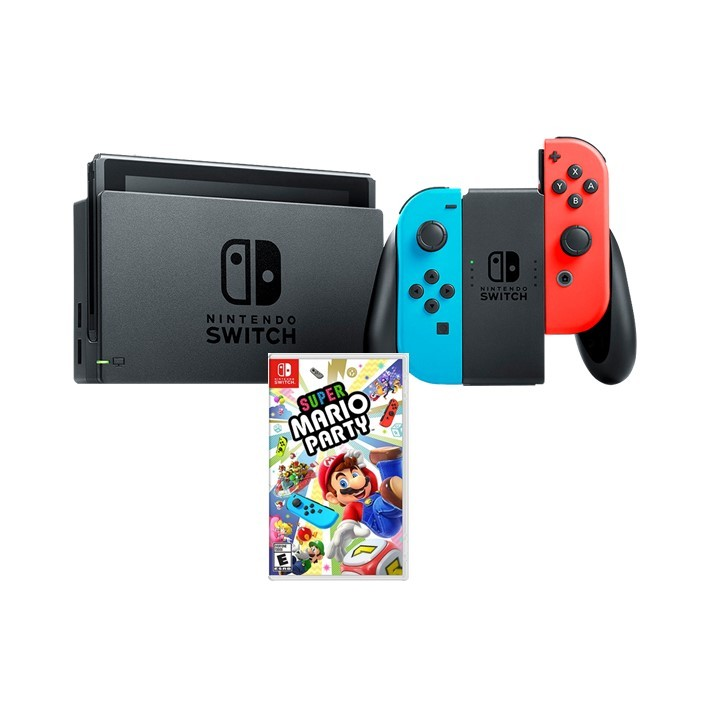 Kit: Console Nintendo Switch com Jogo Super Mario Party